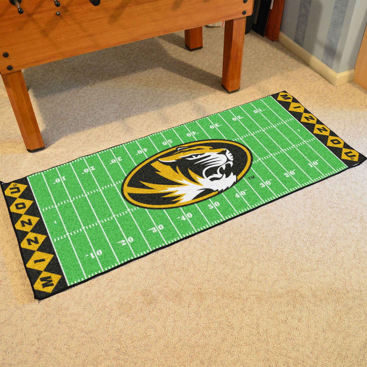 Collegiate - Football Field Runner Collegiate Mats, Rectangular Mats, Football Field Runner, Collegiate, Home Fan Mats Missouri