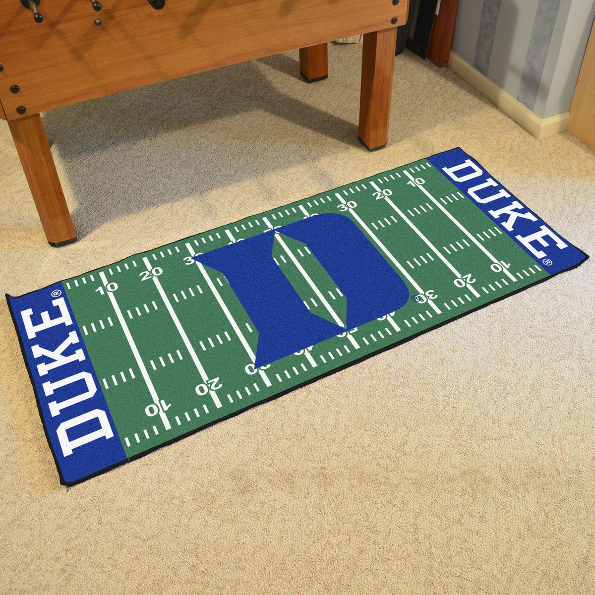 Collegiate - Football Field Runner Collegiate Mats, Rectangular Mats, Football Field Runner, Collegiate, Home Fan Mats Duke