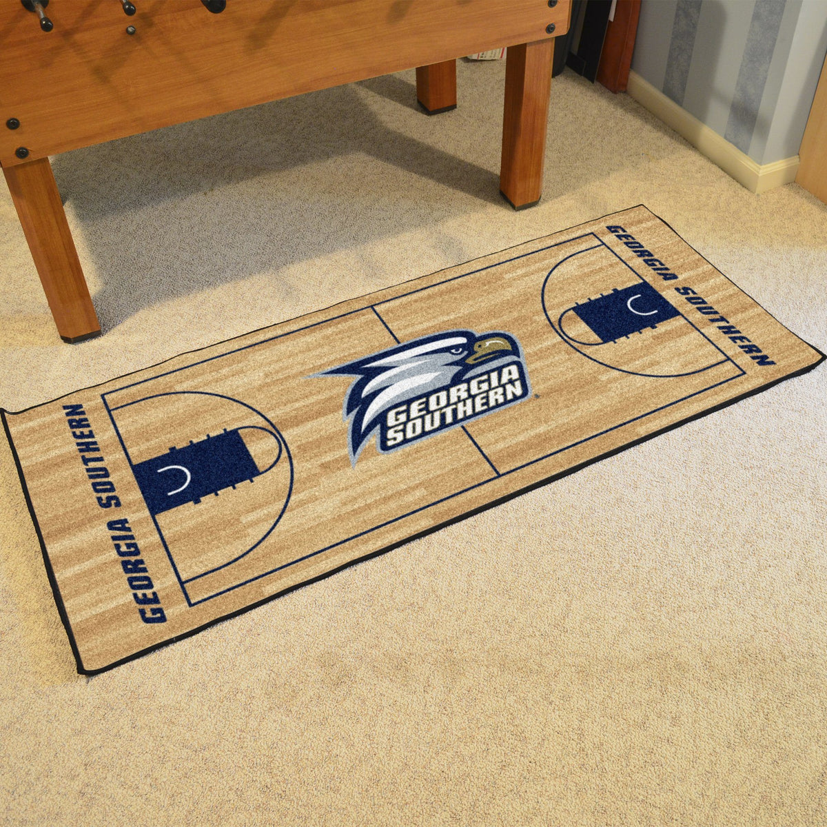 Collegiate - NCAA Basketball Runner Collegiate Mats, Rectangular Mats, NCAA Basketball Runner, Collegiate, Home Fan Mats Georgia Southern