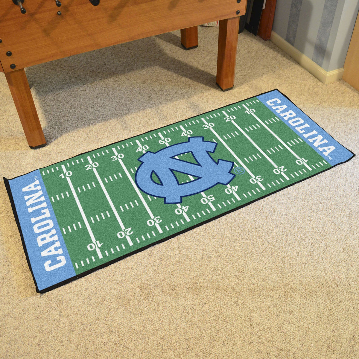 Collegiate - Football Field Runner Collegiate Mats, Rectangular Mats, Football Field Runner, Collegiate, Home Fan Mats North Carolina 2