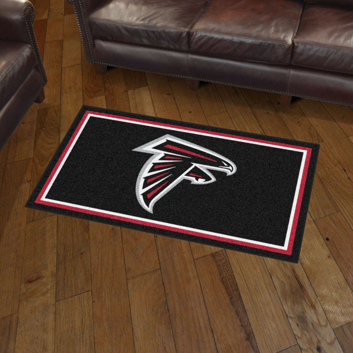 NFL - 3' x 5' Rug NFL Mats, Plush Rugs, 3x5 Rug, NFL, Home Fan Mats Atlanta Falcons
