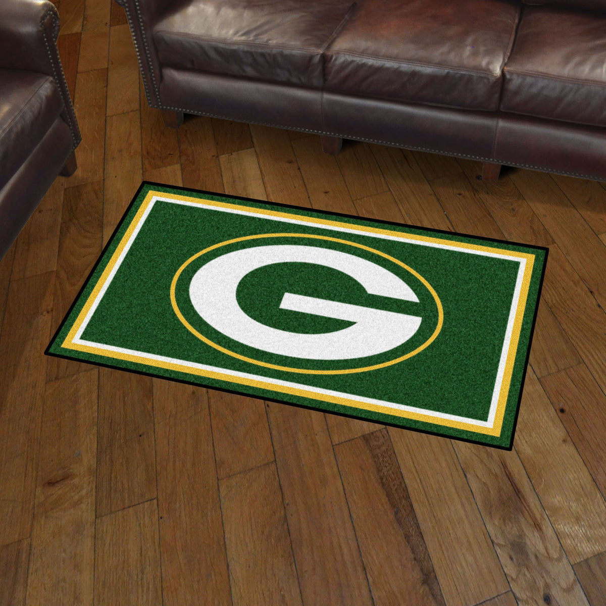 NFL - 3' x 5' Rug NFL Mats, Plush Rugs, 3x5 Rug, NFL, Home Fan Mats Green Bay Packers