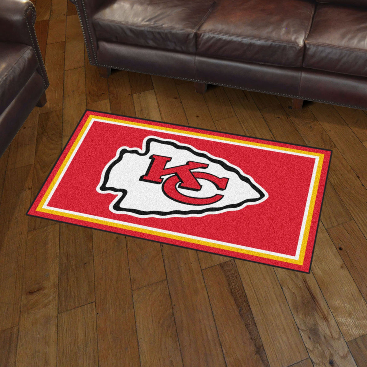 NFL - 3' x 5' Rug NFL Mats, Plush Rugs, 3x5 Rug, NFL, Home Fan Mats Kansas City Chiefs