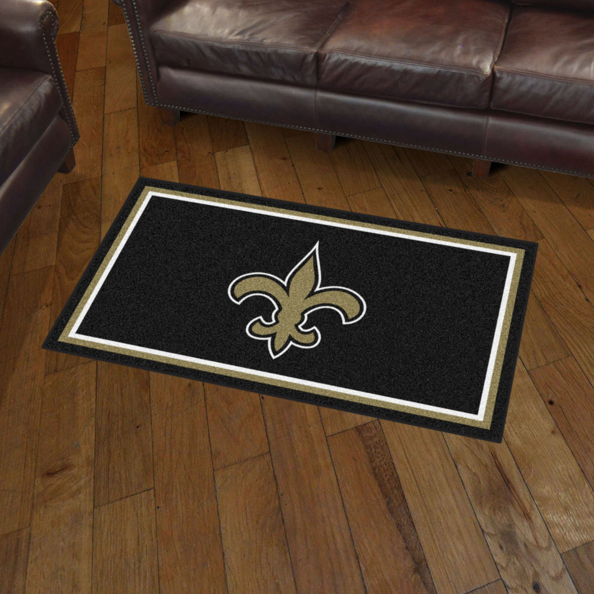 NFL - 3' x 5' Rug NFL Mats, Plush Rugs, 3x5 Rug, NFL, Home Fan Mats New Orleans Saints