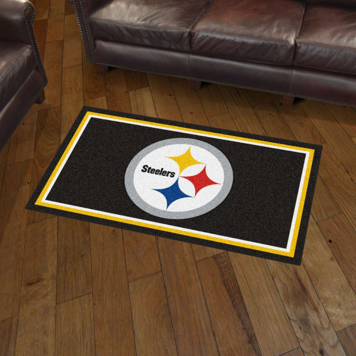 NFL - 3' x 5' Rug NFL Mats, Plush Rugs, 3x5 Rug, NFL, Home Fan Mats Pittsburgh Steelers