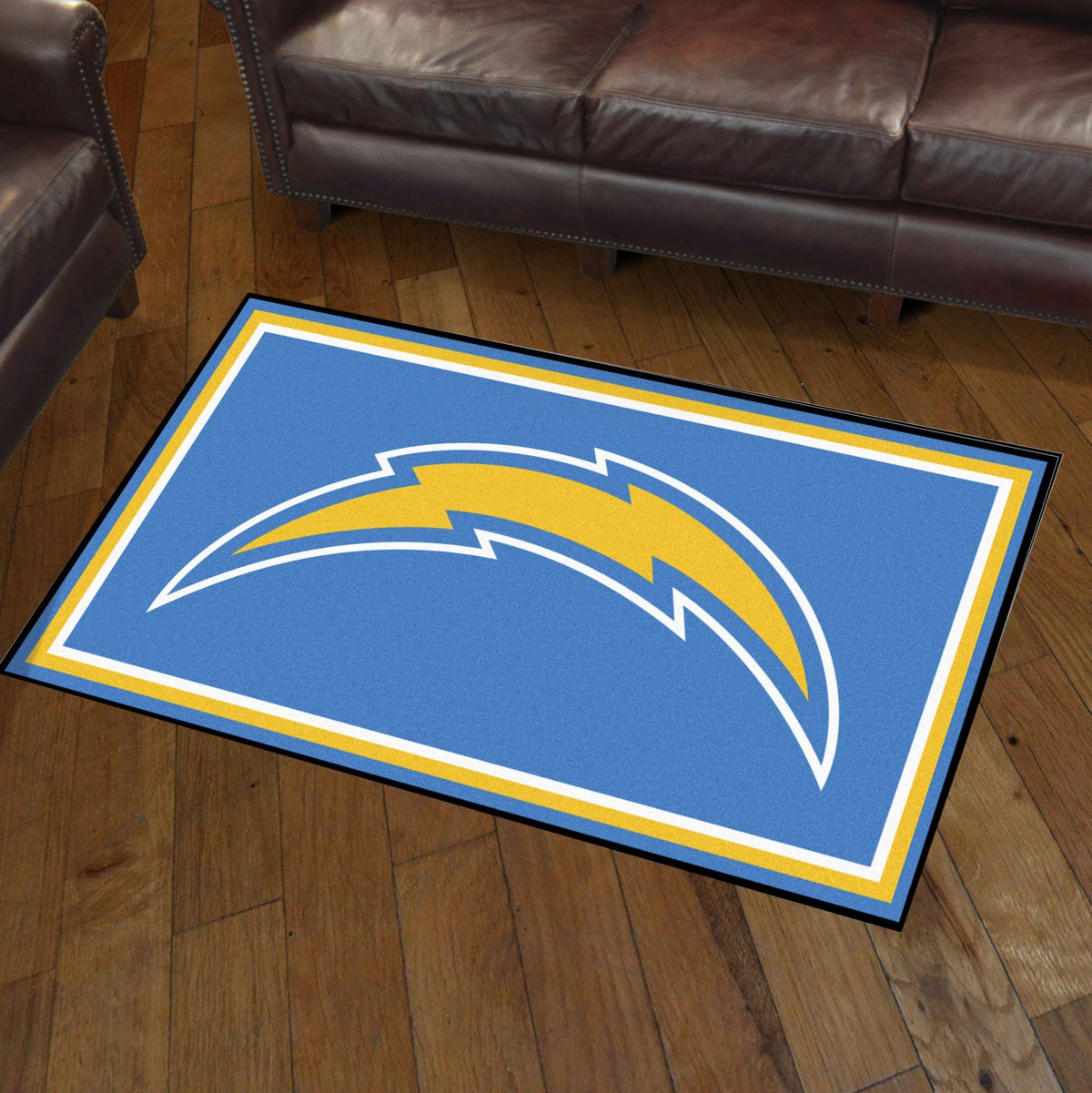 NFL - 3' x 5' Rug NFL Mats, Plush Rugs, 3x5 Rug, NFL, Home Fan Mats Los Angeles Chargers