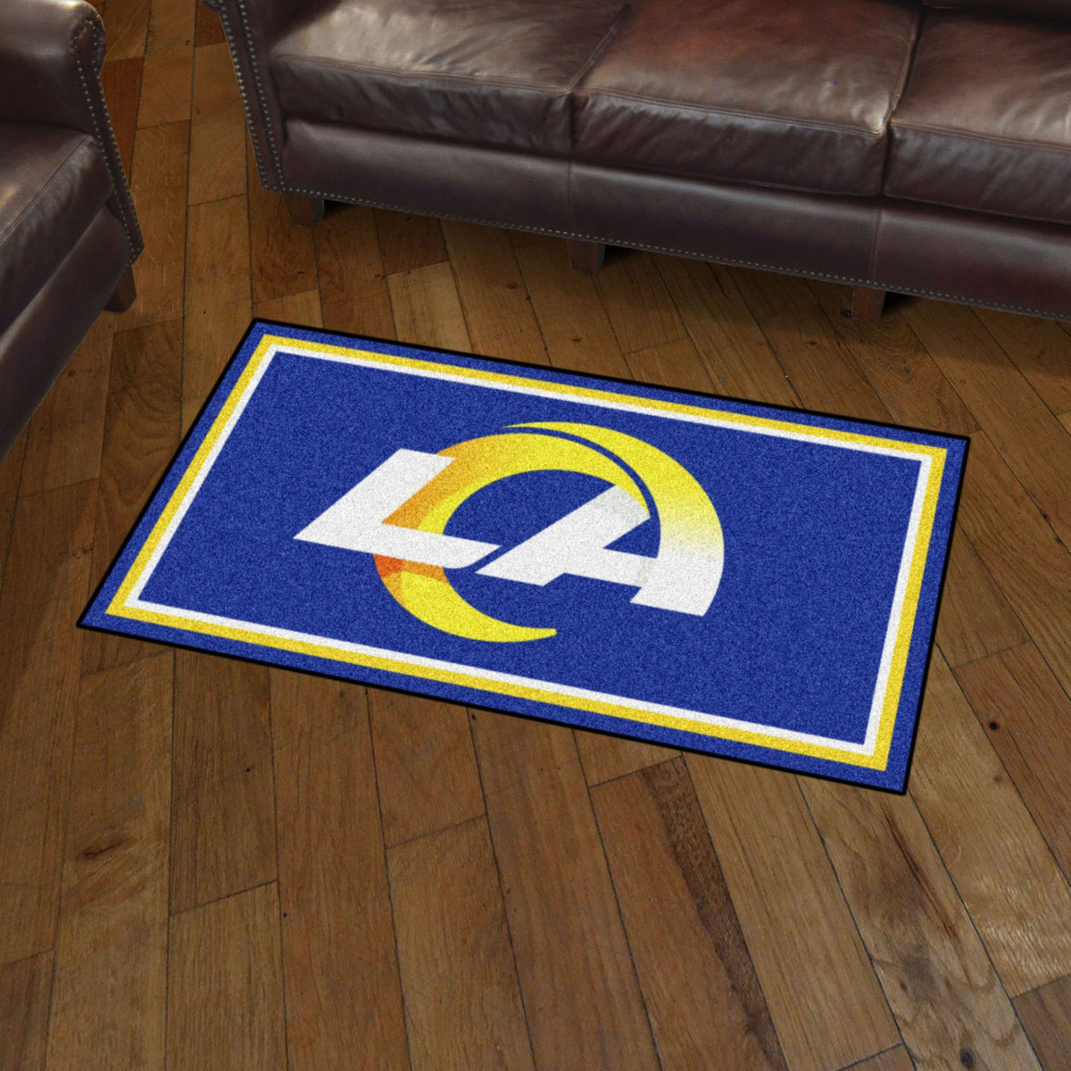 NFL - 3' x 5' Rug NFL Mats, Plush Rugs, 3x5 Rug, NFL, Home Fan Mats Los Angeles Rams