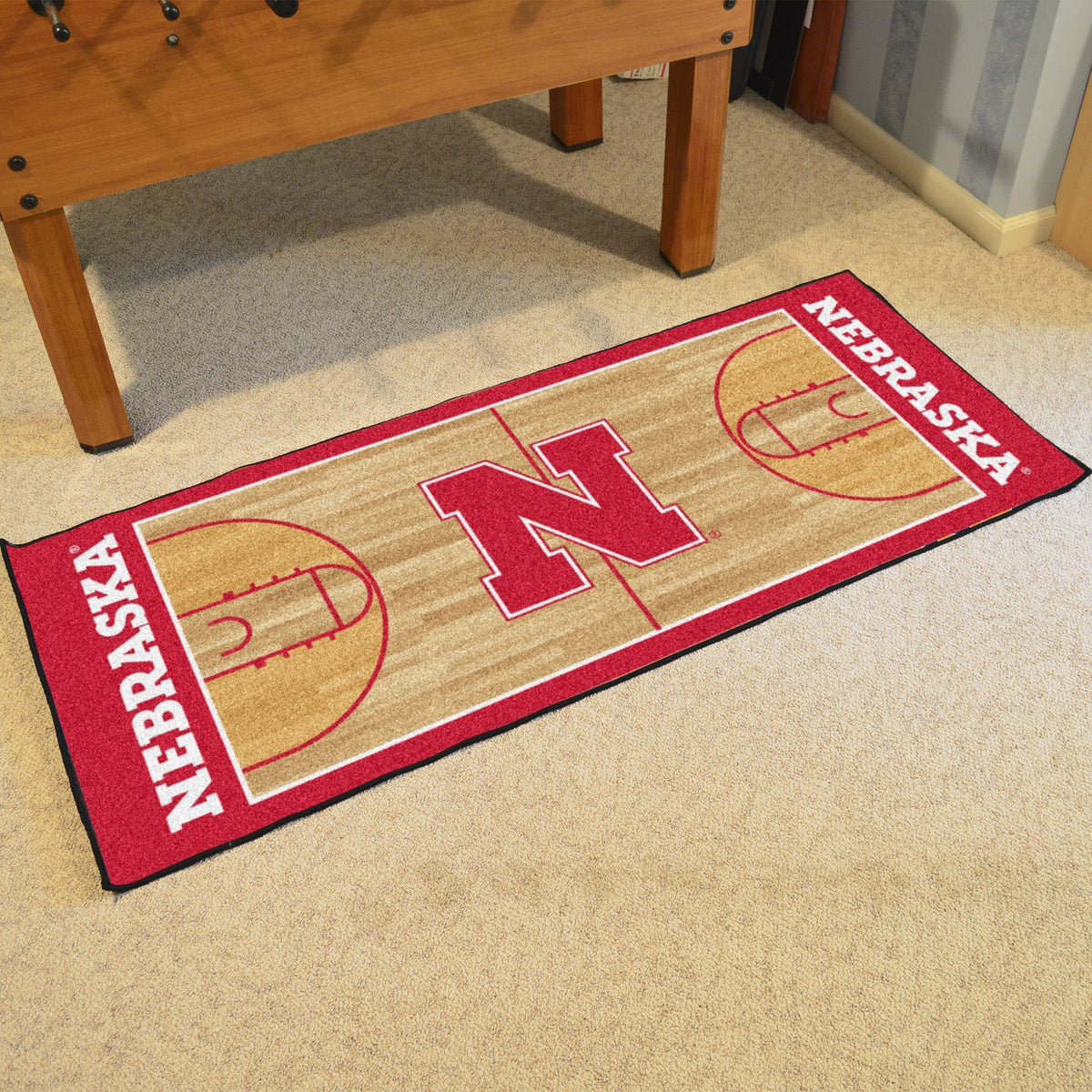 Collegiate - NCAA Basketball Runner Collegiate Mats, Rectangular Mats, NCAA Basketball Runner, Collegiate, Home Fan Mats Nebraska