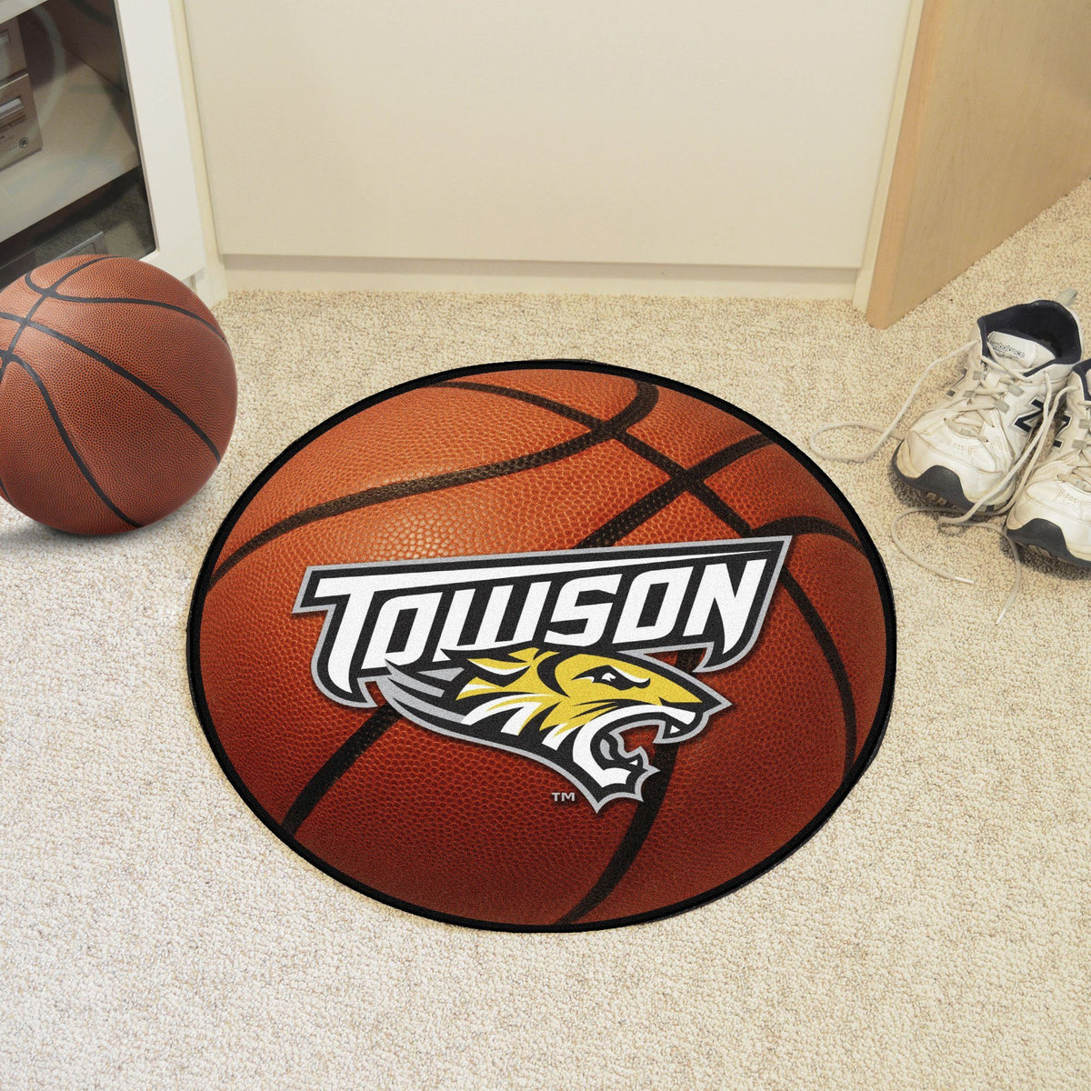 Collegiate - Basketball Mat: T - Z Collegiate Mats, Rectangular Mats, Basketball Mat, Collegiate, Home Fan Mats Towson 2
