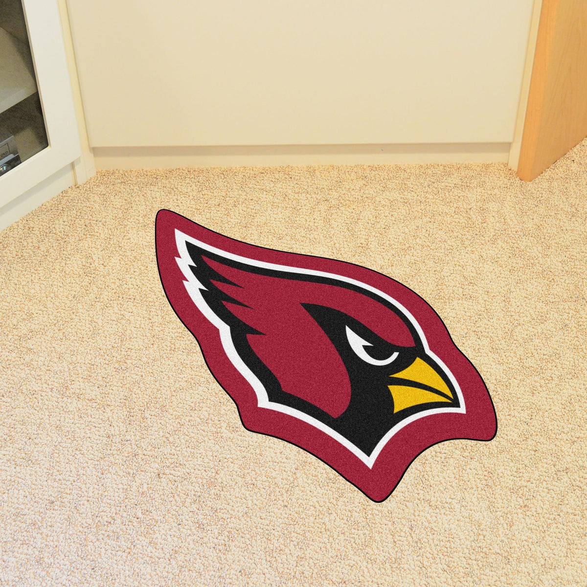 "NFL - Mascot Mat, 36"" x 34.8"" NFL Mats, Custom Shape Rugs, Mascot Mat, NFL, Home Fan Mats Arizona Cardinals"