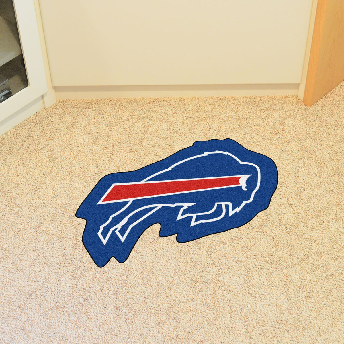 "NFL - Mascot Mat, 36"" x 34.8"" NFL Mats, Custom Shape Rugs, Mascot Mat, NFL, Home Fan Mats Buffalo Bills"