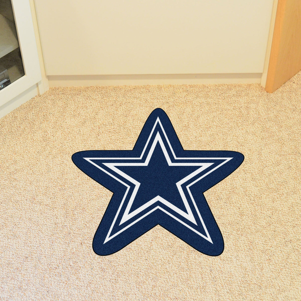 "NFL - Mascot Mat, 36"" x 34.8"" NFL Mats, Custom Shape Rugs, Mascot Mat, NFL, Home Fan Mats Dallas Cowboys"