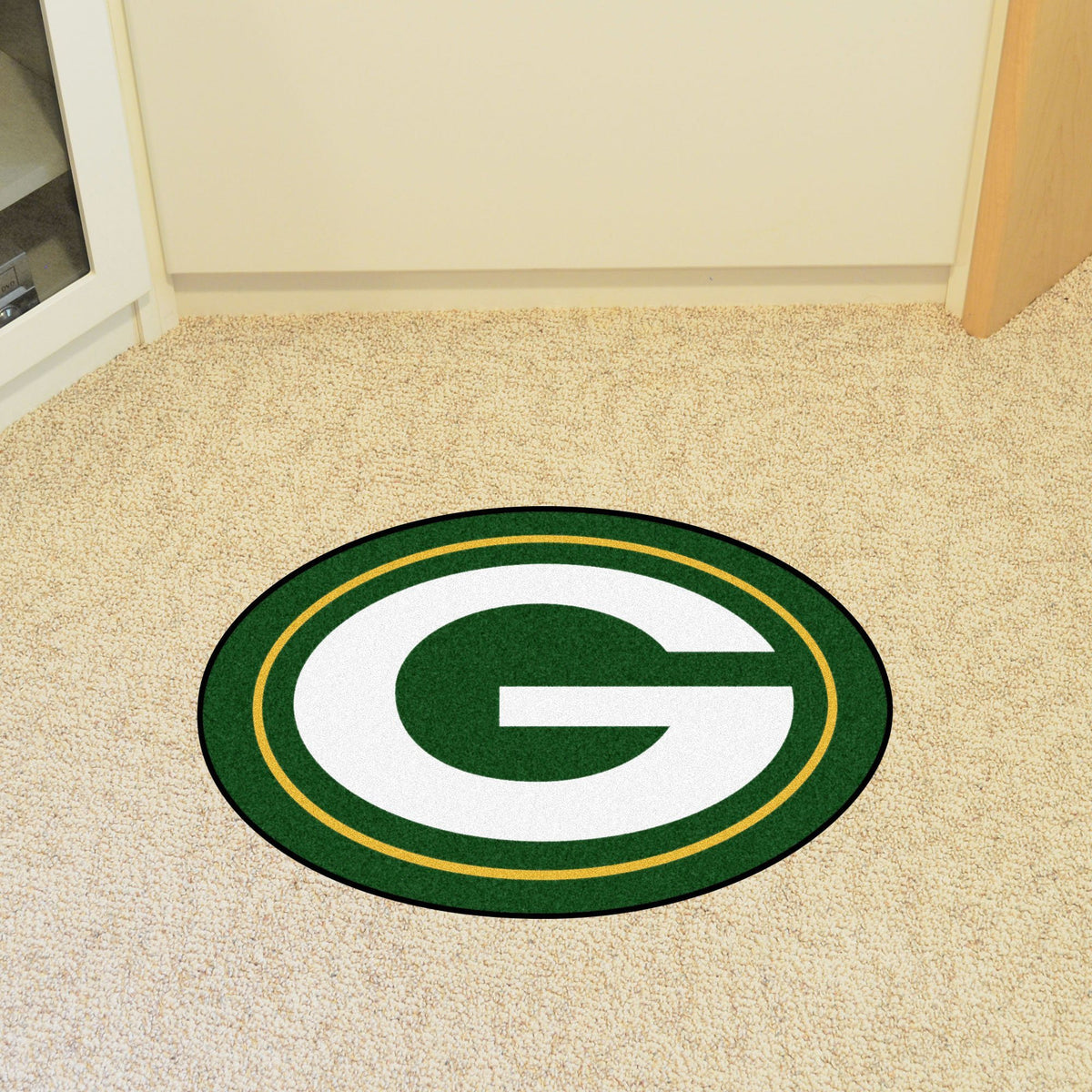 "NFL - Mascot Mat, 36"" x 34.8"" NFL Mats, Custom Shape Rugs, Mascot Mat, NFL, Home Fan Mats Green Bay Packers"