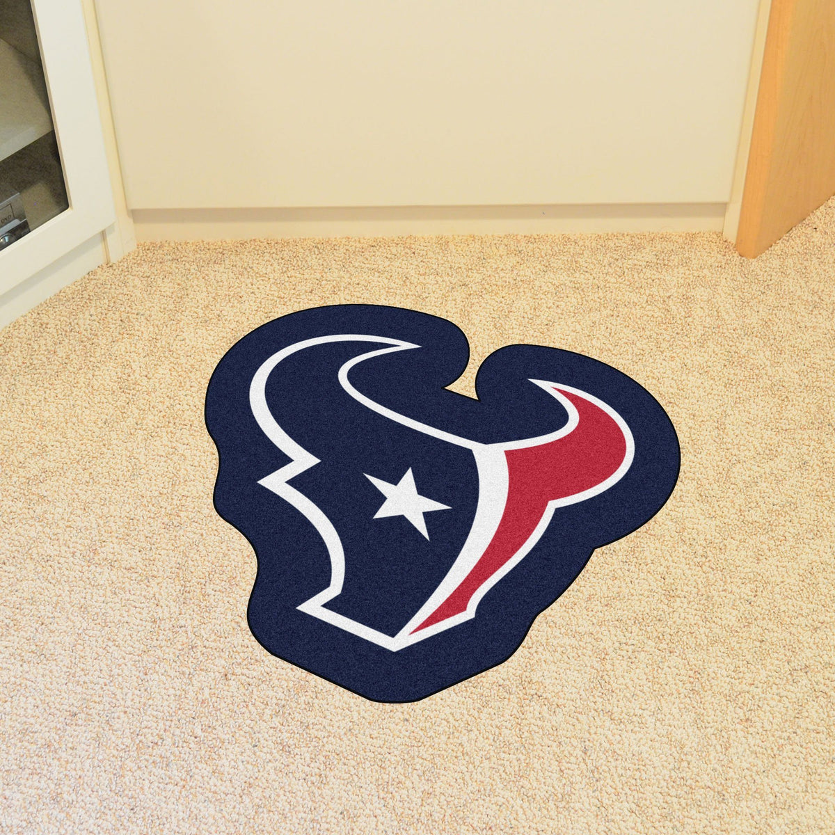 "NFL - Mascot Mat, 36"" x 34.8"" NFL Mats, Custom Shape Rugs, Mascot Mat, NFL, Home Fan Mats Houston Texans"