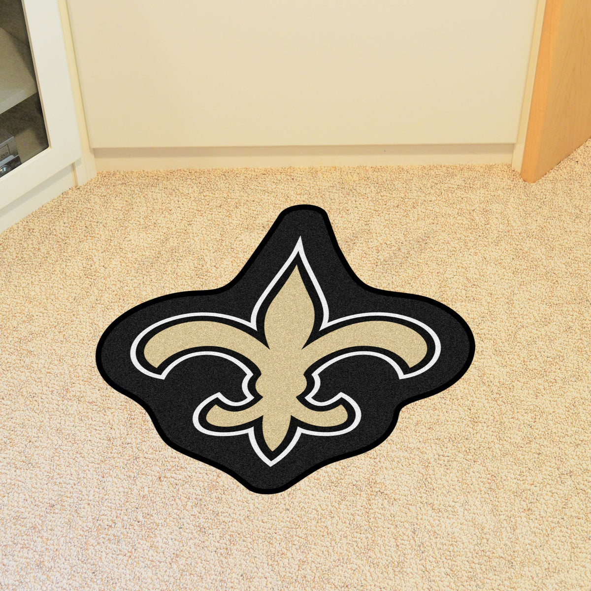 "NFL - Mascot Mat, 36"" x 34.8"" NFL Mats, Custom Shape Rugs, Mascot Mat, NFL, Home Fan Mats New Orleans Saints"