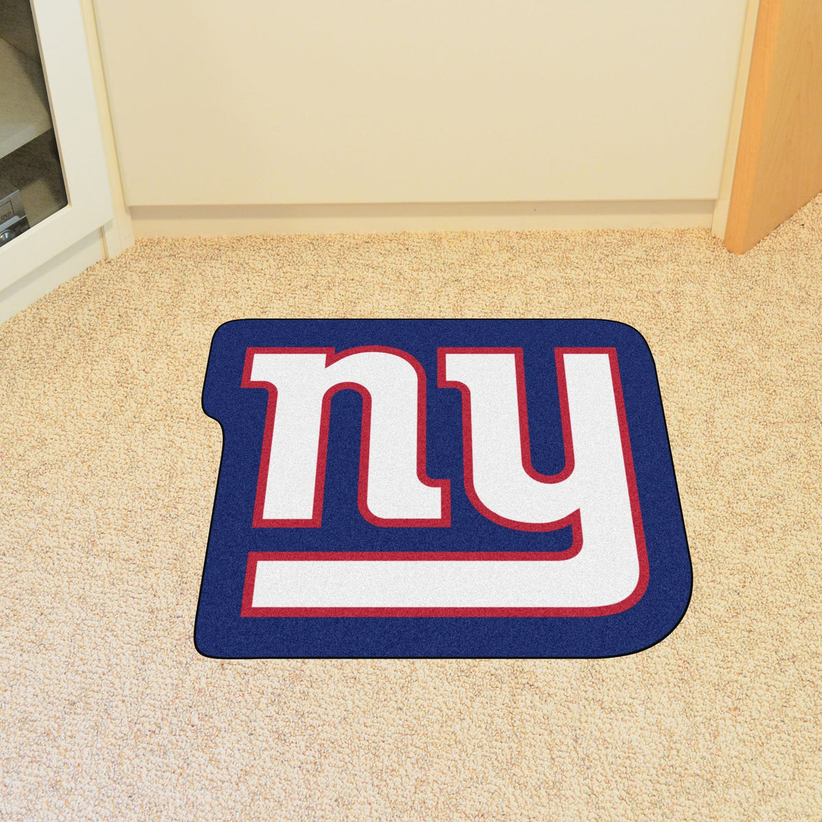 "NFL - Mascot Mat, 36"" x 34.8"" NFL Mats, Custom Shape Rugs, Mascot Mat, NFL, Home Fan Mats New York Giants"
