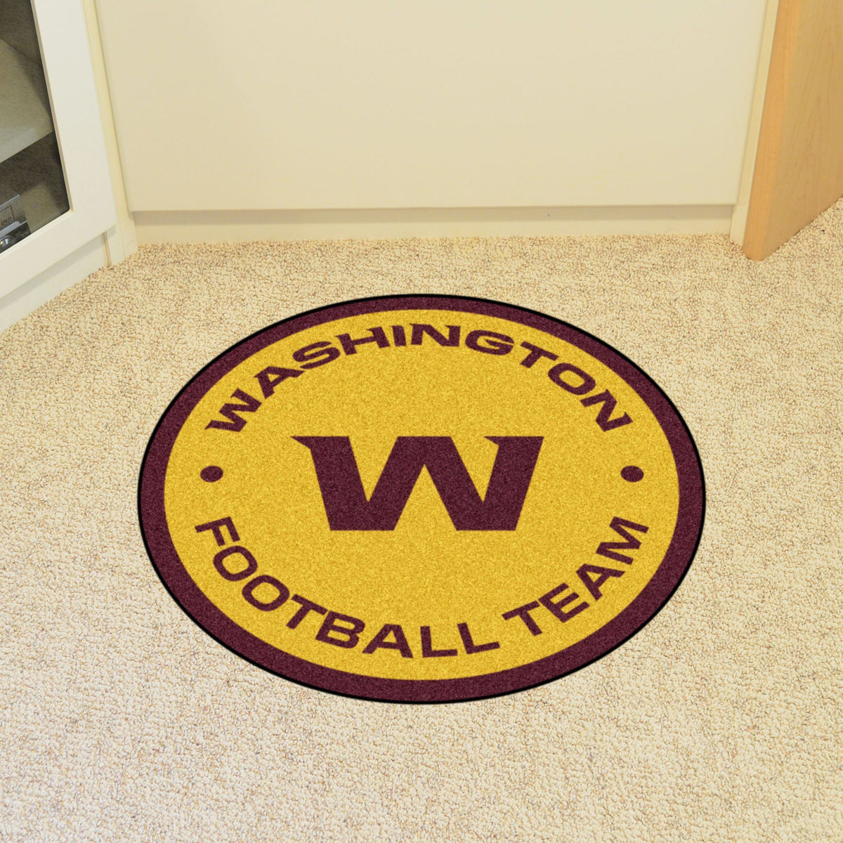"NFL - Mascot Mat, 36"" x 34.8"" NFL Mats, Custom Shape Rugs, Mascot Mat, NFL, Home Fan Mats Washington Redskins"