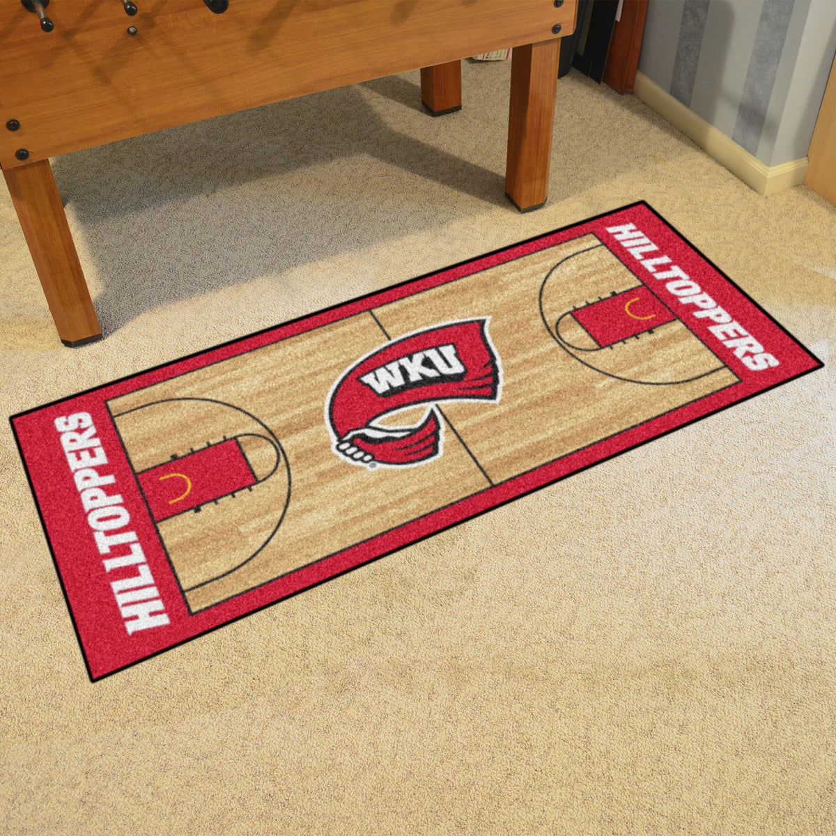 Collegiate - NCAA Basketball Runner Collegiate Mats, Rectangular Mats, NCAA Basketball Runner, Collegiate, Home Fan Mats Western Kentucky