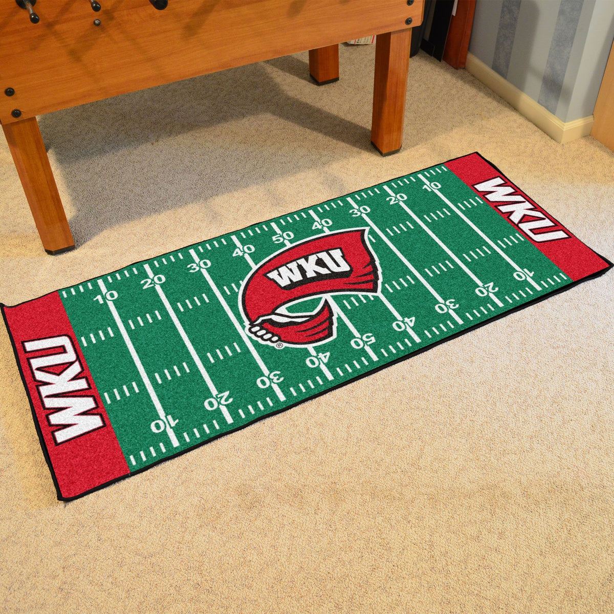 Collegiate - Football Field Runner Collegiate Mats, Rectangular Mats, Football Field Runner, Collegiate, Home Fan Mats Western Kentucky