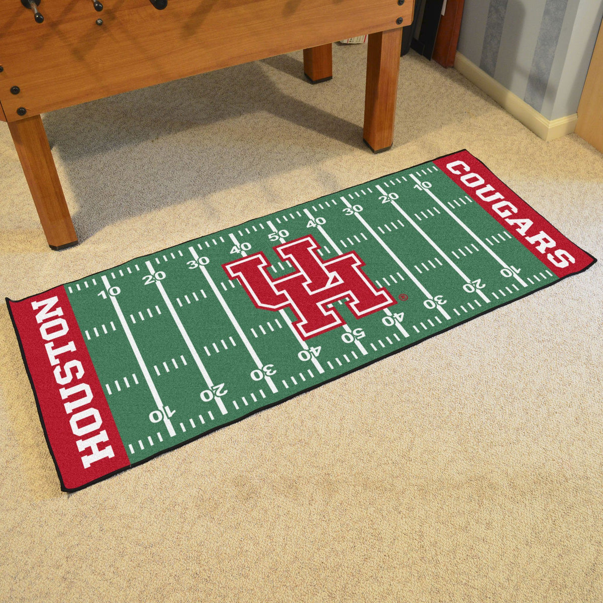 Collegiate - Football Field Runner Collegiate Mats, Rectangular Mats, Football Field Runner, Collegiate, Home Fan Mats Houston