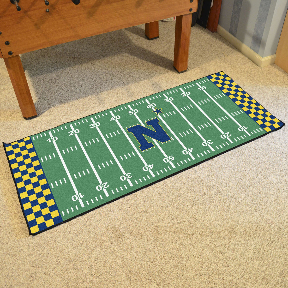 Collegiate - Football Field Runner Collegiate Mats, Rectangular Mats, Football Field Runner, Collegiate, Home Fan Mats Navy