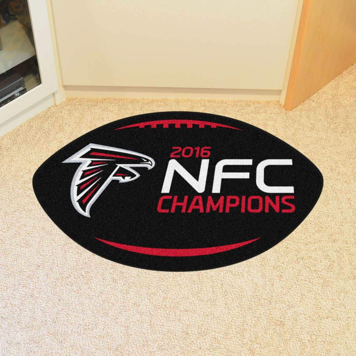 NFL - Football Mat NFL Mats, Custom Shape Rugs, Football Mat, NFL, Home Fan Mats Atlanta Falcons 2
