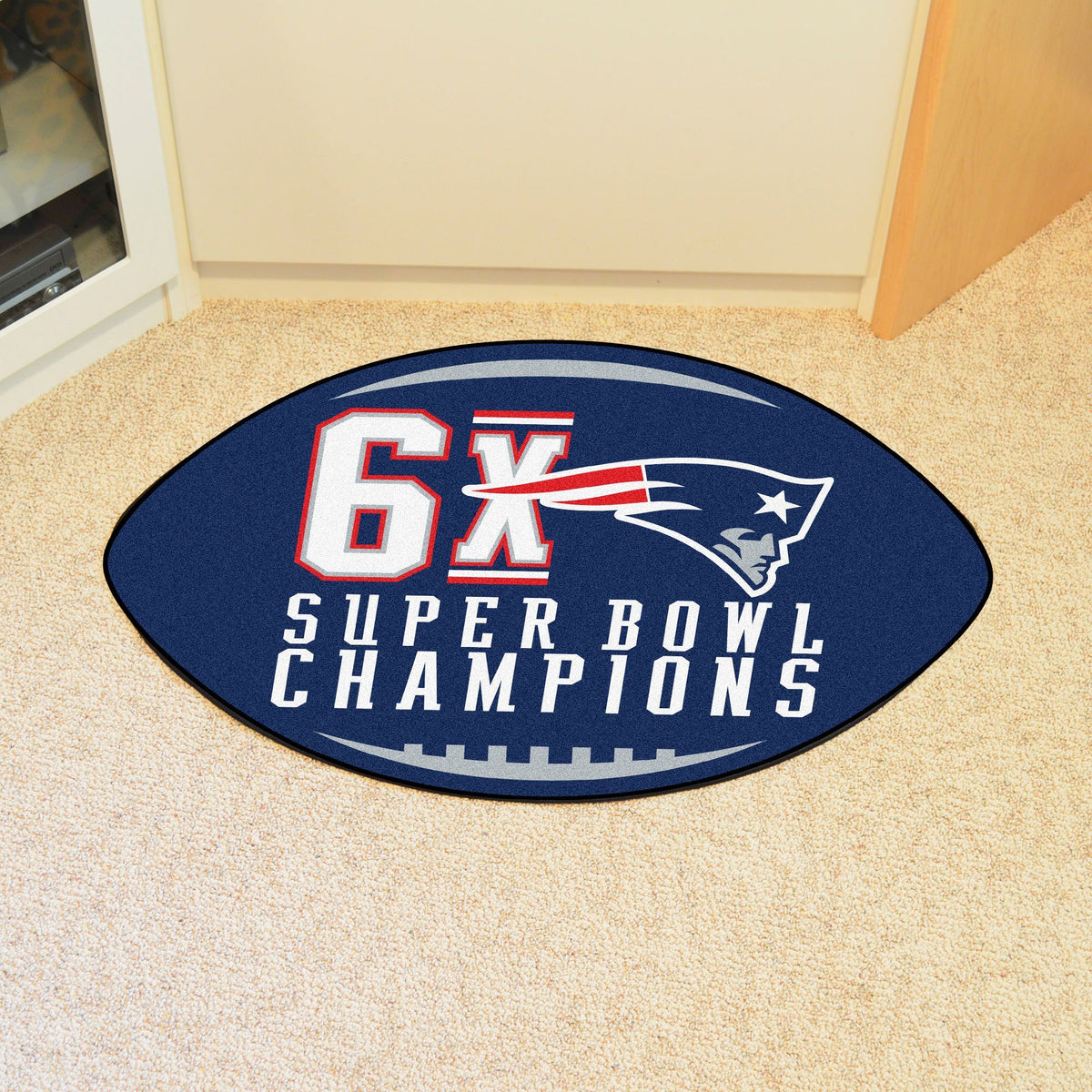 NFL - Football Mat NFL Mats, Custom Shape Rugs, Football Mat, NFL, Home Fan Mats New England Patriots 2
