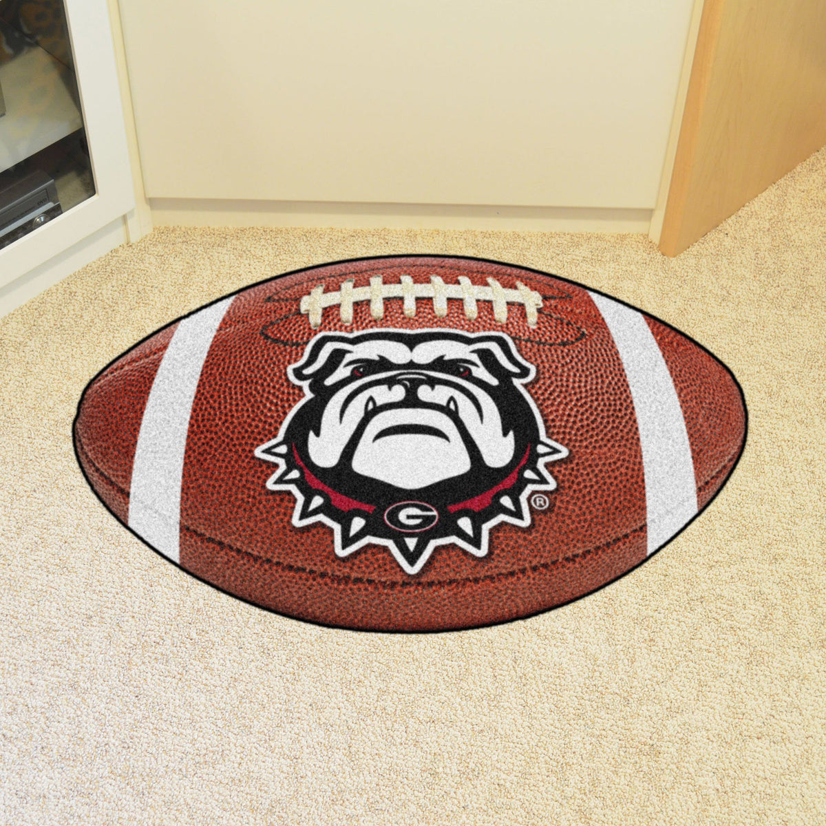 Collegiate - Football Mat: A - K Collegiate Mats, Rectangular Mats, Football Mat, Collegiate, Home Fan Mats Georgia 3