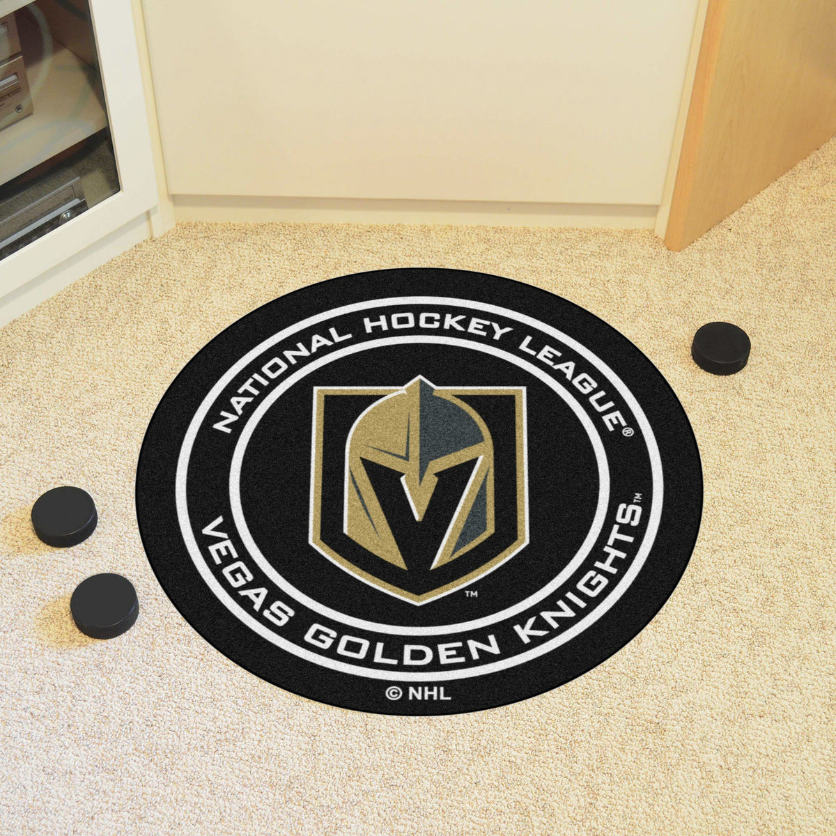 NHL Hockey Puck Mat NHL Hockey Puck Mat Fan Mats Vegas Golden Knights