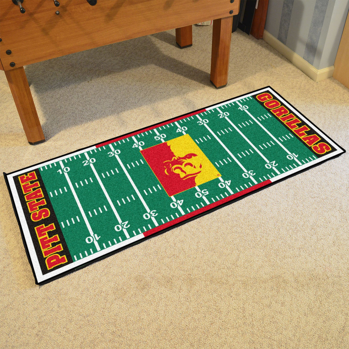 Collegiate - Football Field Runner Collegiate Mats, Rectangular Mats, Football Field Runner, Collegiate, Home Fan Mats Pittsburg State