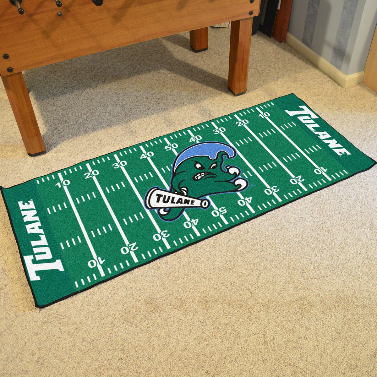 Collegiate - Football Field Runner Collegiate Mats, Rectangular Mats, Football Field Runner, Collegiate, Home Fan Mats Tulane
