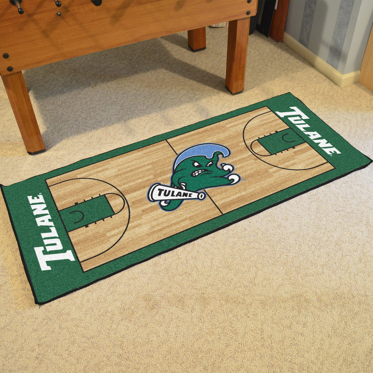 Collegiate - NCAA Basketball Runner Collegiate Mats, Rectangular Mats, NCAA Basketball Runner, Collegiate, Home Fan Mats Tulane