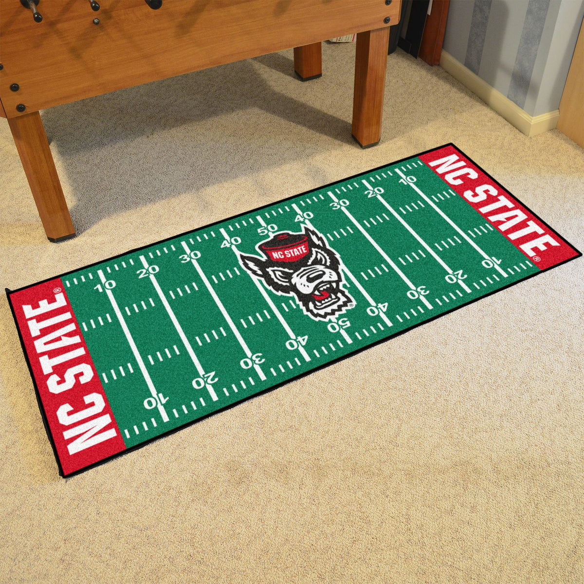 Collegiate - Football Field Runner Collegiate Mats, Rectangular Mats, Football Field Runner, Collegiate, Home Fan Mats NC State 2