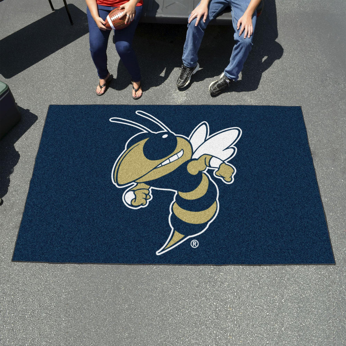 Collegiate - Ulti-Mat: A - L Collegiate Mats, Rectangular Mats, Ulti-Mat, Collegiate, Home Fan Mats Georgia Tech 2