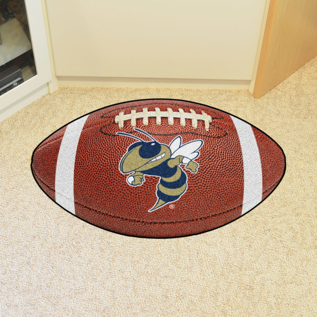 Collegiate - Football Mat: A - K Collegiate Mats, Rectangular Mats, Football Mat, Collegiate, Home Fan Mats Georgia Tech 2