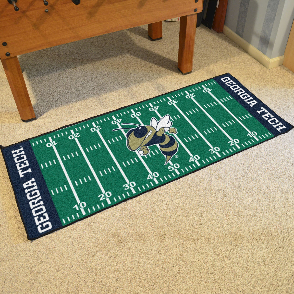 Collegiate - Football Field Runner Collegiate Mats, Rectangular Mats, Football Field Runner, Collegiate, Home Fan Mats Georgia Tech 2