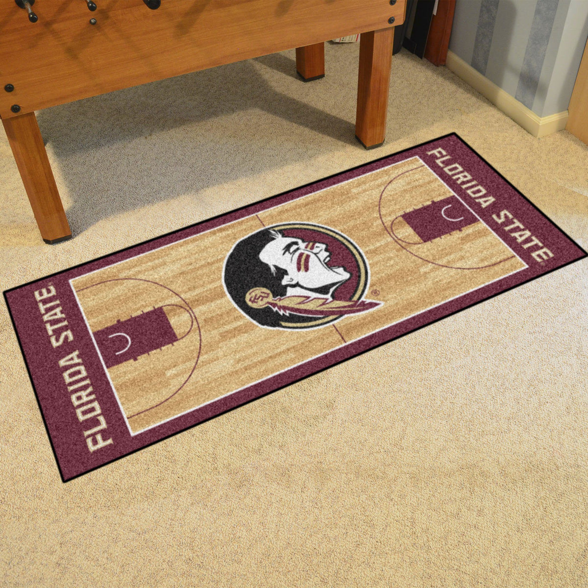 Collegiate - NCAA Basketball Runner Collegiate Mats, Rectangular Mats, NCAA Basketball Runner, Collegiate, Home Fan Mats Florida State
