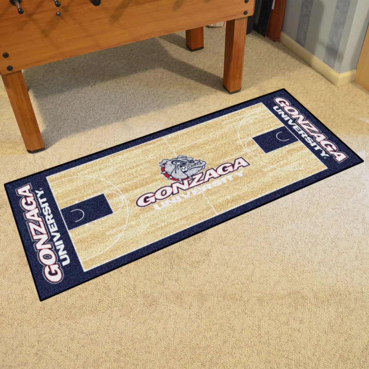 Collegiate - NCAA Basketball Runner Collegiate Mats, Rectangular Mats, NCAA Basketball Runner, Collegiate, Home Fan Mats Gonzaga
