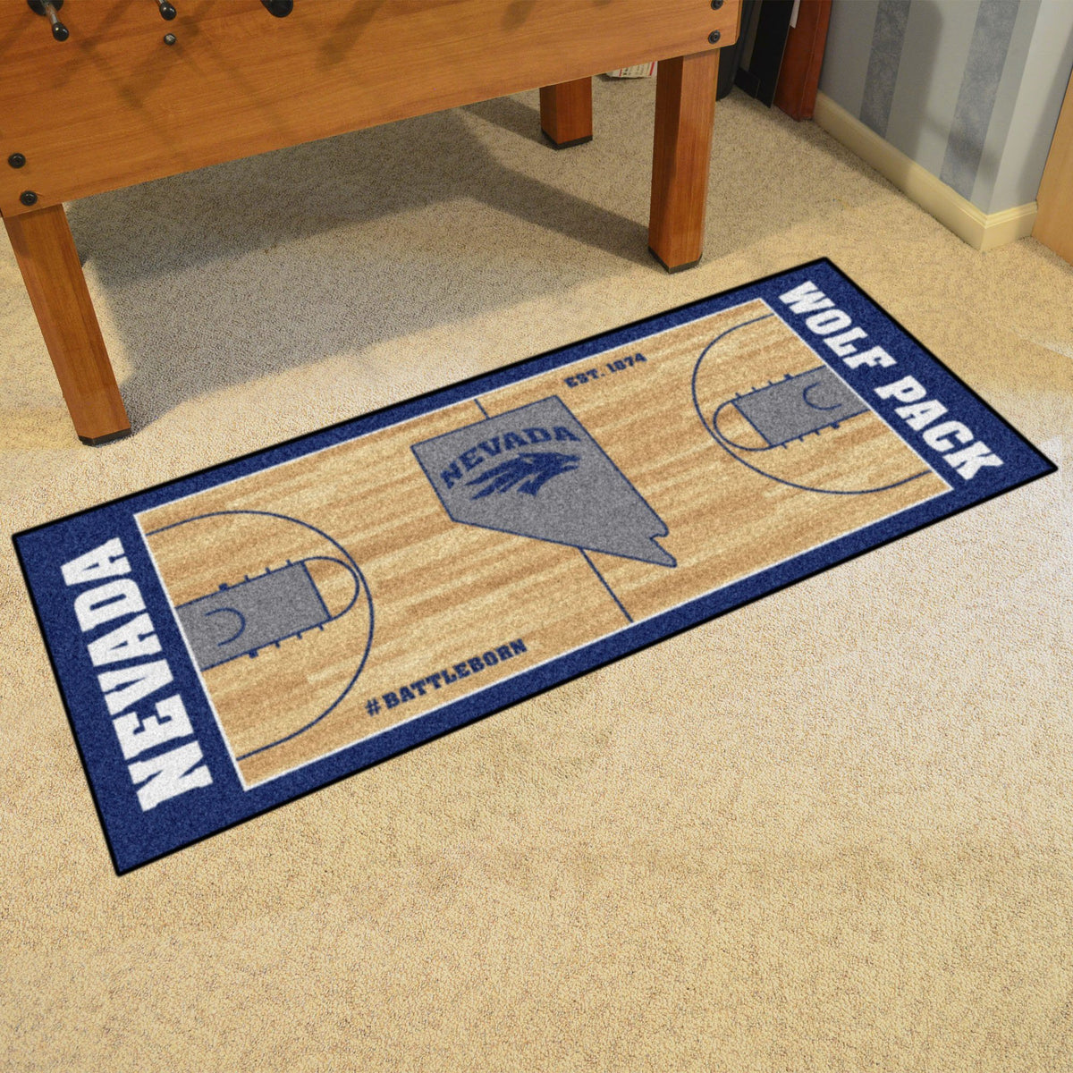 Collegiate - NCAA Basketball Runner Collegiate Mats, Rectangular Mats, NCAA Basketball Runner, Collegiate, Home Fan Mats Nevada