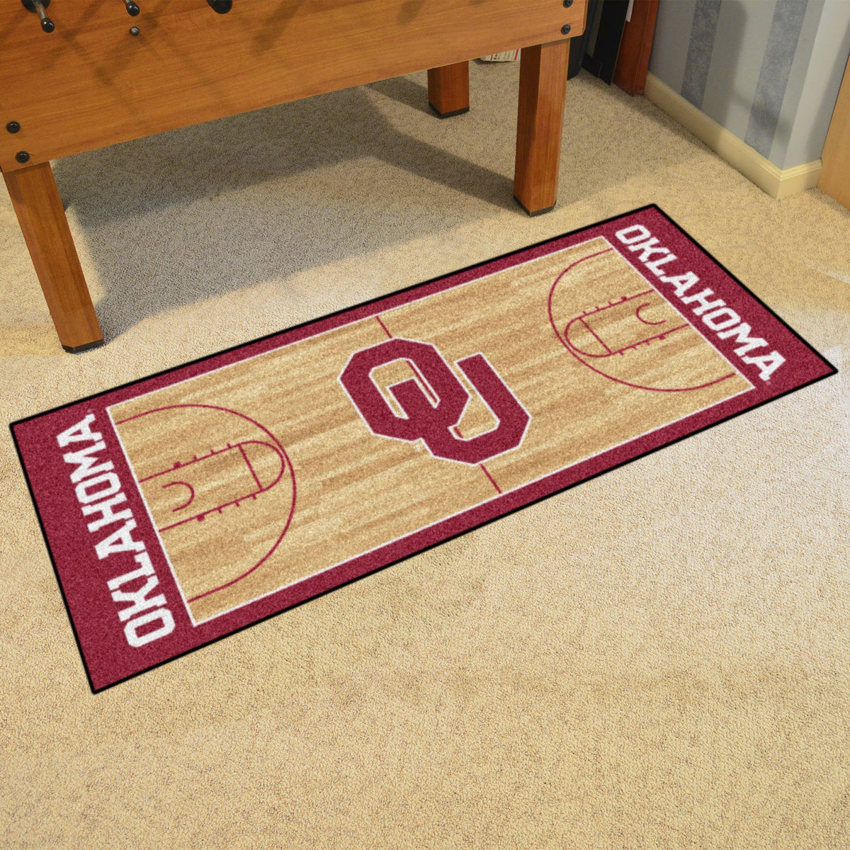 Collegiate - NCAA Basketball Runner Collegiate Mats, Rectangular Mats, NCAA Basketball Runner, Collegiate, Home Fan Mats Oklahoma