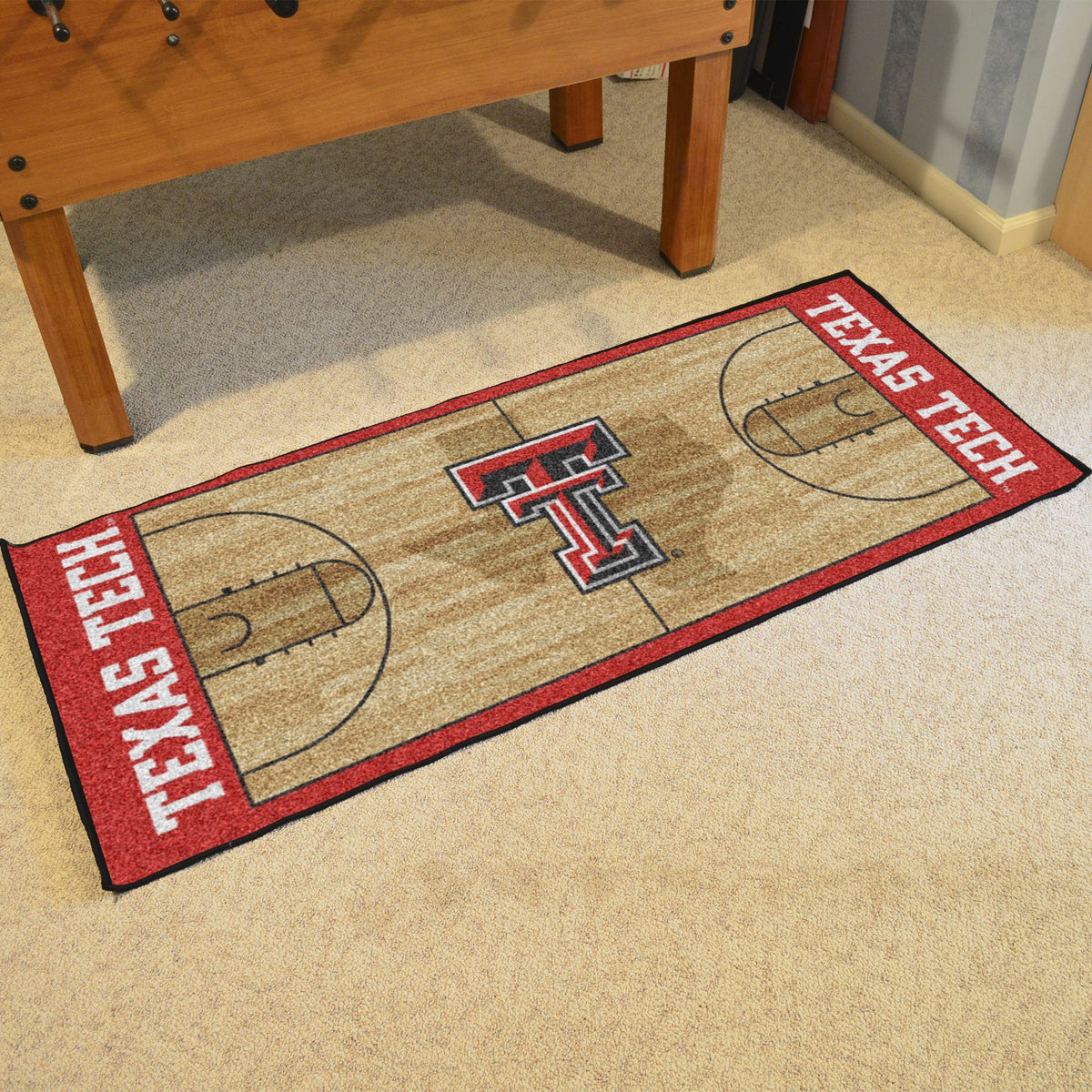 Collegiate - NCAA Basketball Runner Collegiate Mats, Rectangular Mats, NCAA Basketball Runner, Collegiate, Home Fan Mats Texas Tech
