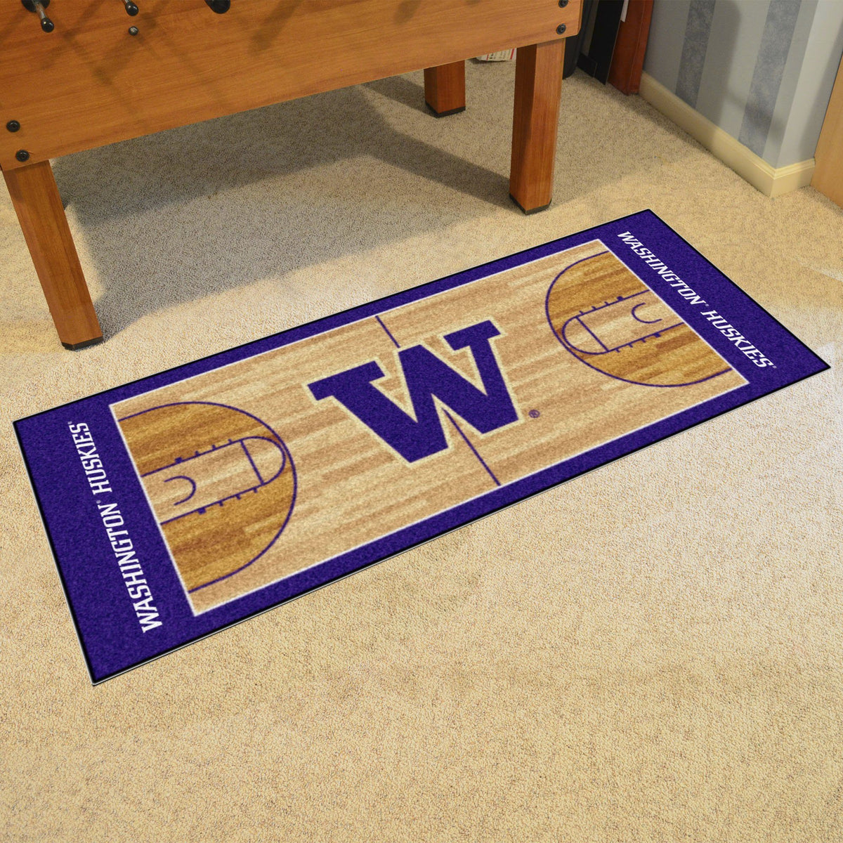 Collegiate - NCAA Basketball Runner Collegiate Mats, Rectangular Mats, NCAA Basketball Runner, Collegiate, Home Fan Mats Washington