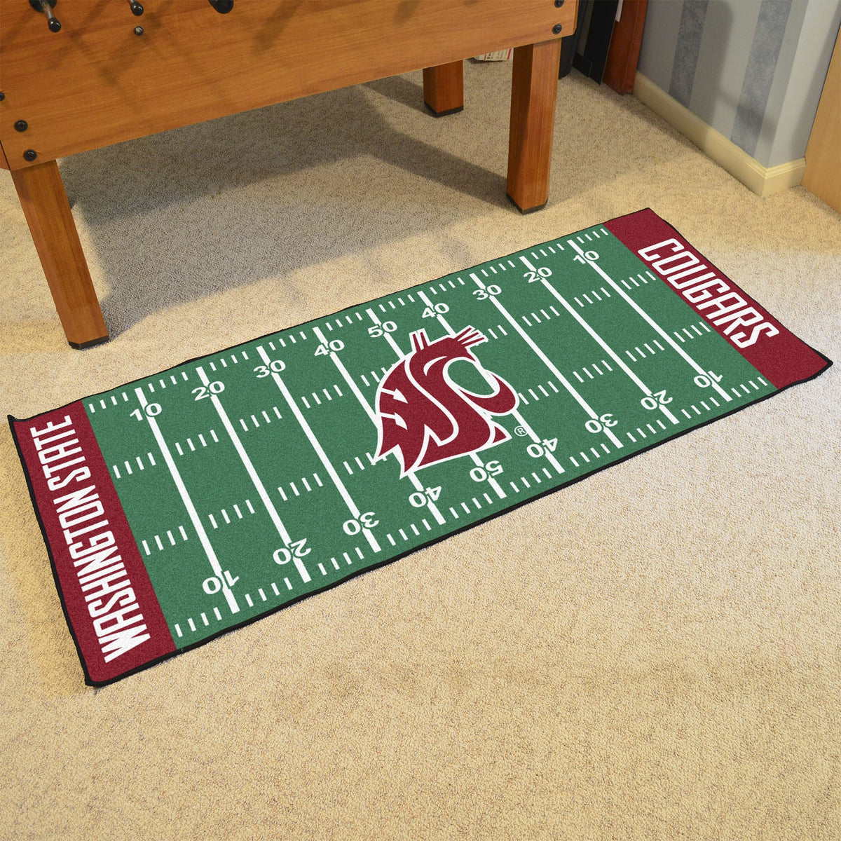 Collegiate - Football Field Runner Collegiate Mats, Rectangular Mats, Football Field Runner, Collegiate, Home Fan Mats Washington State
