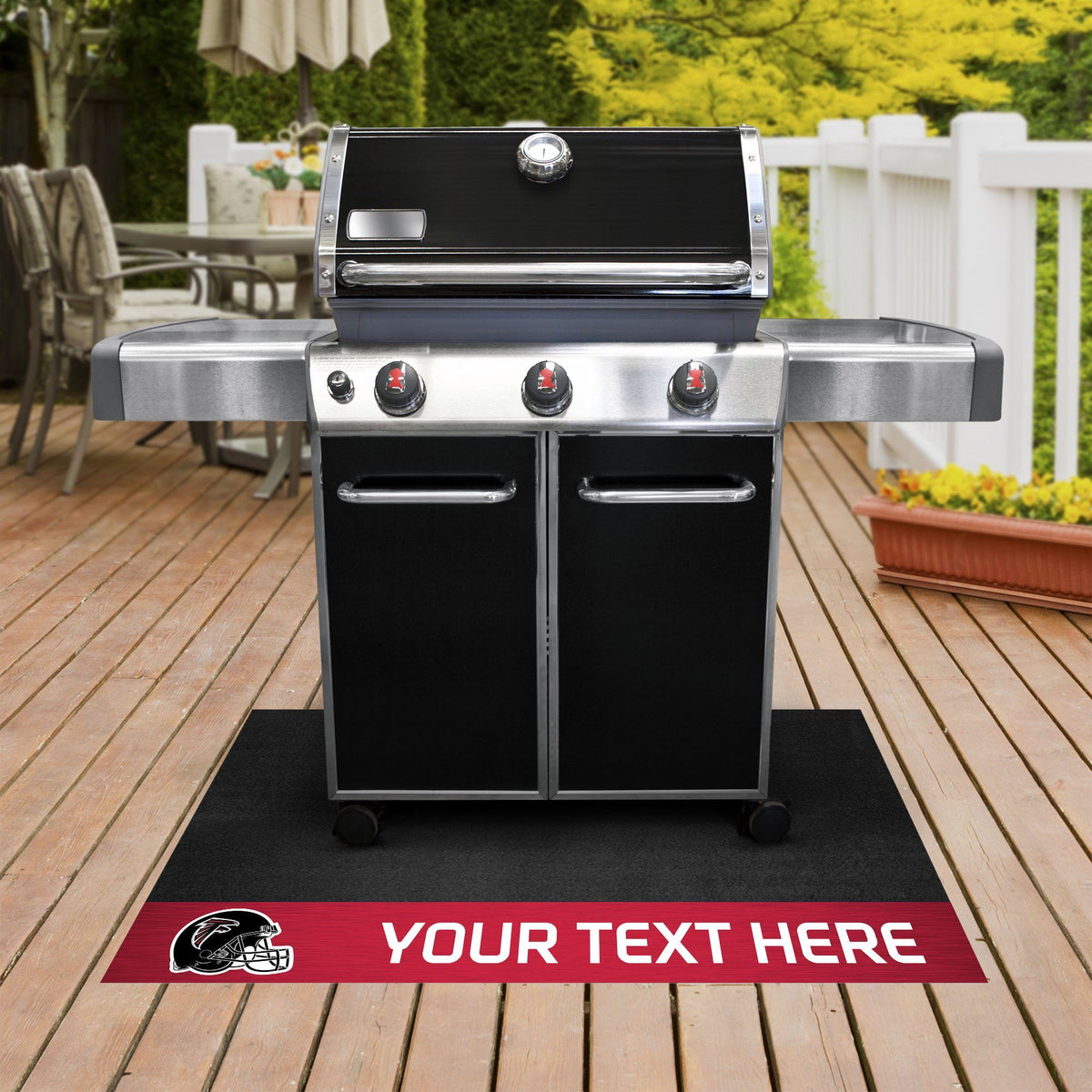 NFL Personalized Grill Mat Personalized Grill Mat Fan Mats Atlanta Falcons