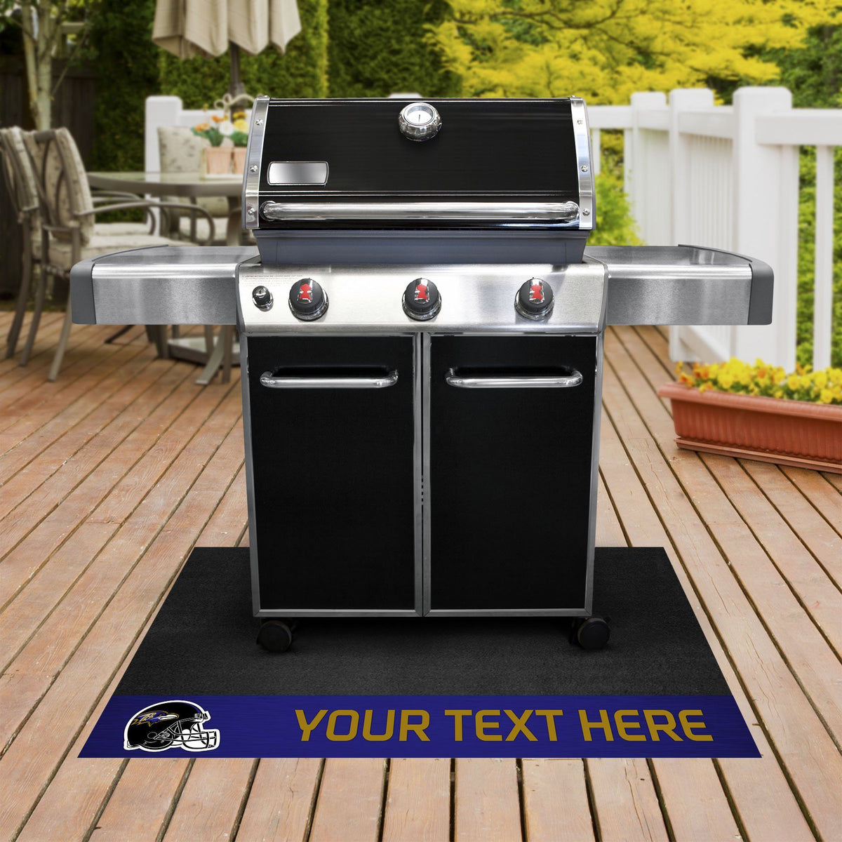 NFL Personalized Grill Mat Personalized Grill Mat Fan Mats Baltimore Ravens
