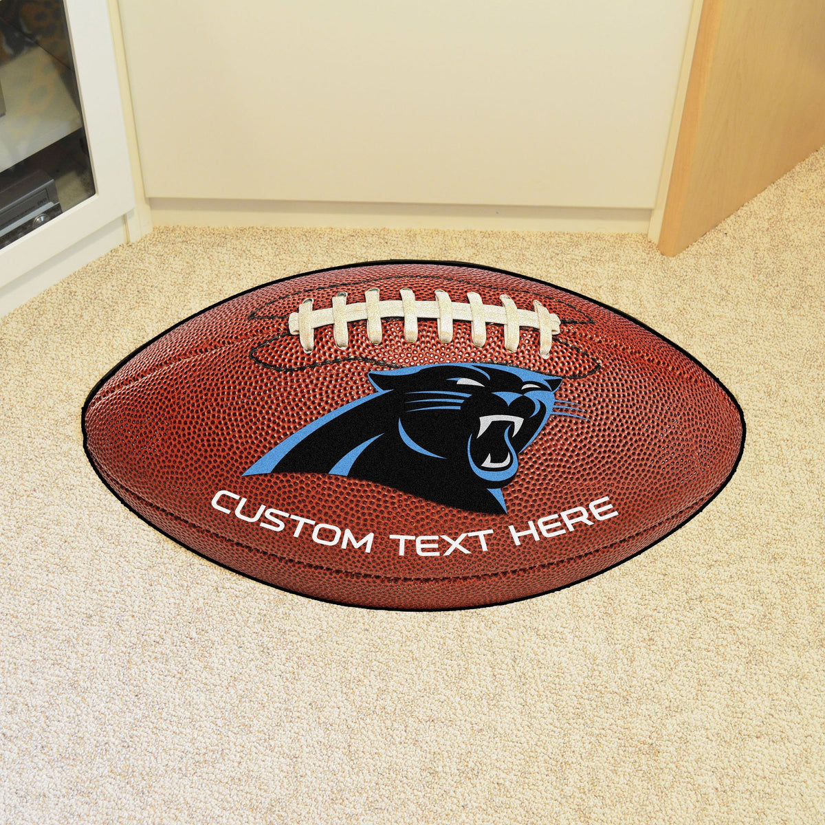 NFL Personalized Football Mat Personalized Football Mat Fan Mats Carolina Panthers