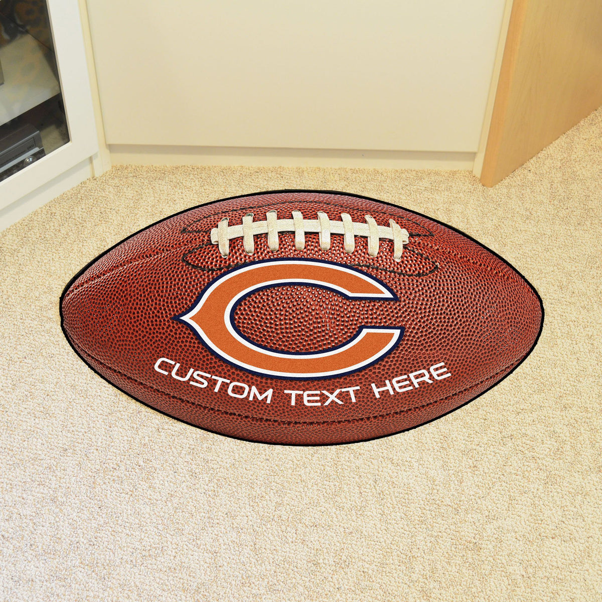 NFL Personalized Football Mat Personalized Football Mat Fan Mats Chicago Bears