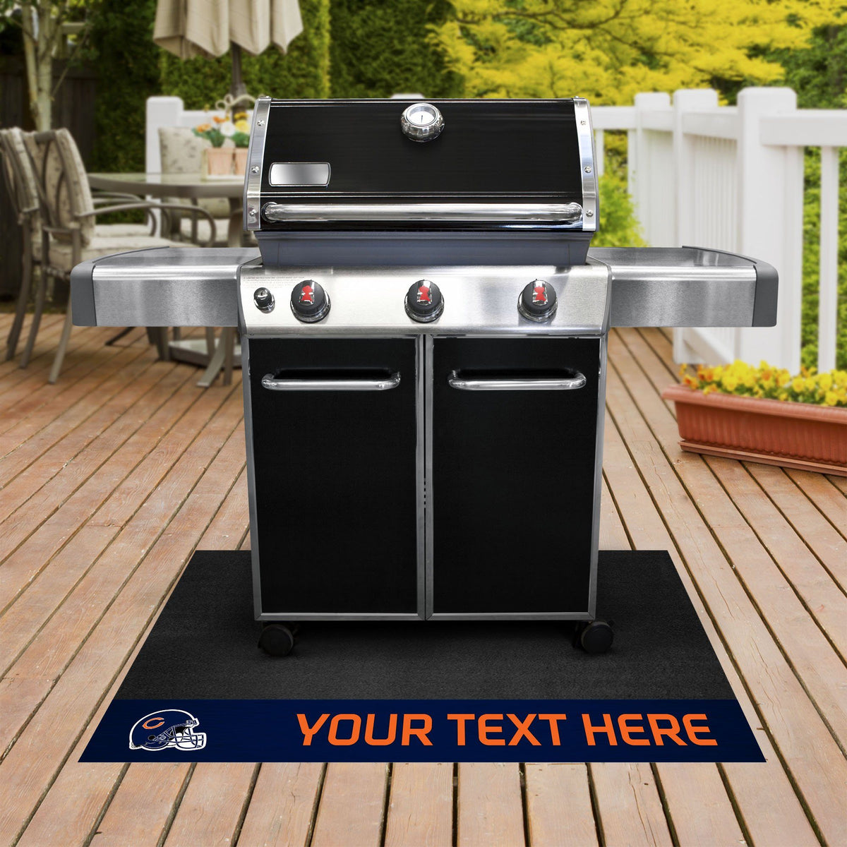 NFL Personalized Grill Mat Personalized Grill Mat Fan Mats Chicago Bears