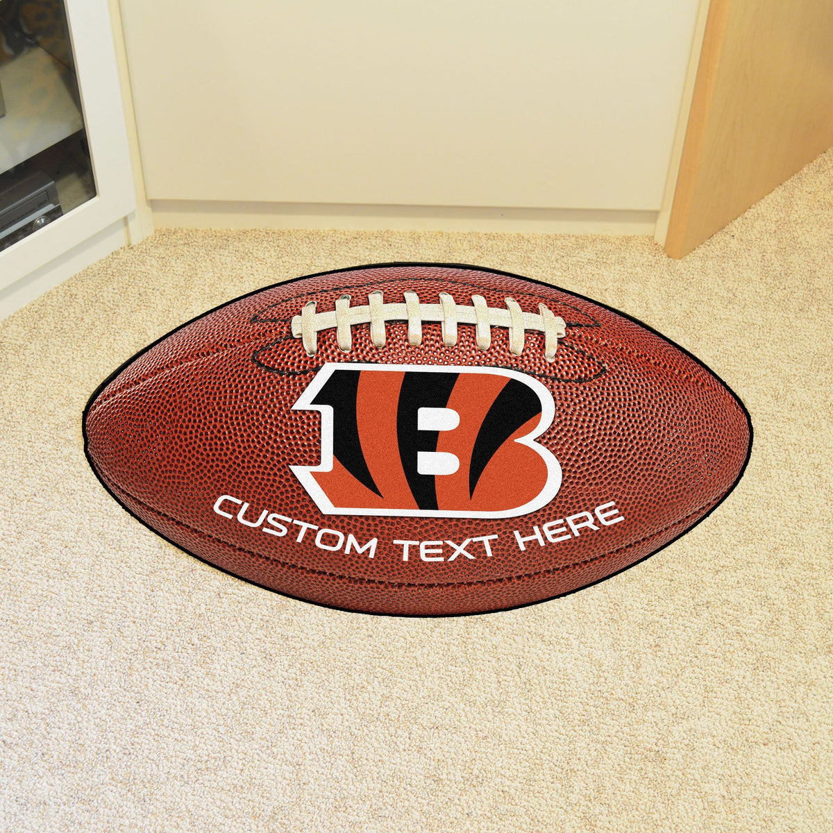 NFL Personalized Football Mat Personalized Football Mat Fan Mats Cincinnati Bengals