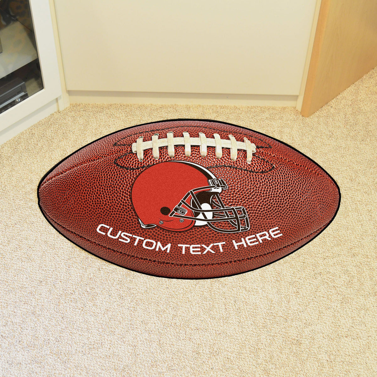NFL Personalized Football Mat Personalized Football Mat Fan Mats Cleveland Browns